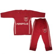 پیراهن آستین بلند و شلوار نوزادی باشگاه پرسپولیس