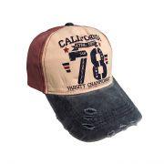 کلاه نقابدار جین طرح 78 اناری رنگ