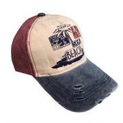 کلاه نقاب دار جین طرح Beach اناری رنگ