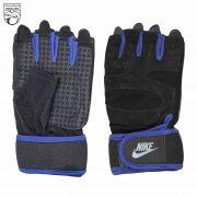دستکش ورزشی مردانه آبی مشکی نایکی