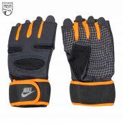 دستکش ورزشی مردانه نارنجی مشکی نایکی