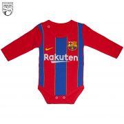لباس نوزاد باشگاه بارسلونا زیردکمه