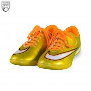 کفش فوتسال طرح نایکی طلایی CR7