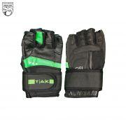 دستکش ورزشی مردانه سبز مشکی تک