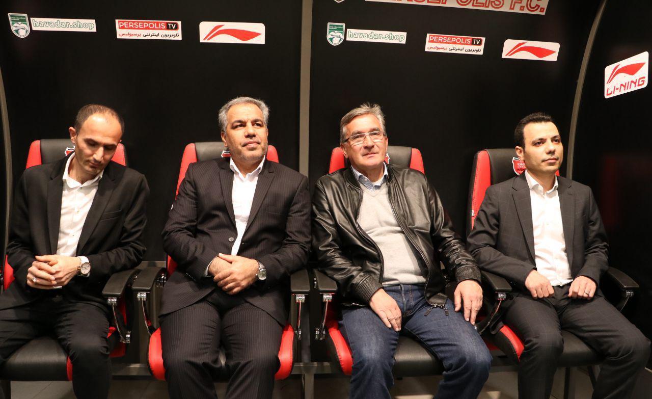 از راست، میثم اعلایی، برانکو ایوانکوویچ، ایرج عرب
