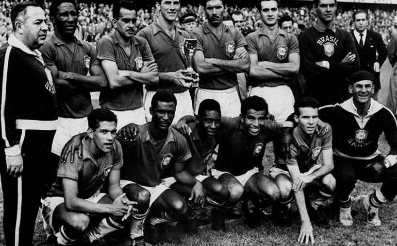 عکس قهرمانی تیم برزیل در جام جهانی 1958