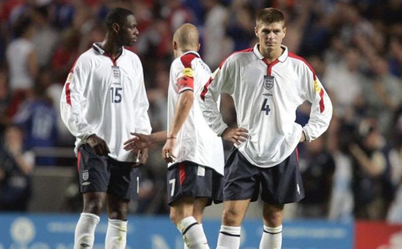 استیون جرارد، دیوید بکهام، سول کمپل در تیم ملی انگلستان