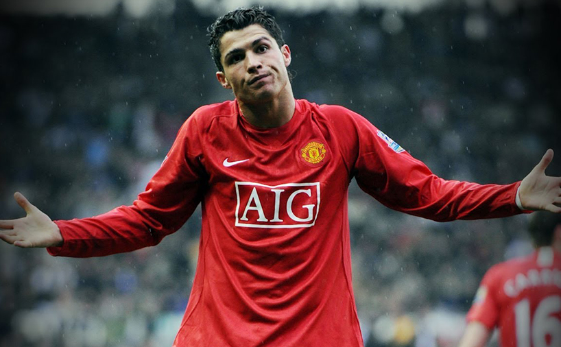 کریستیانو رونالدو در تیم منچستر یونایتد