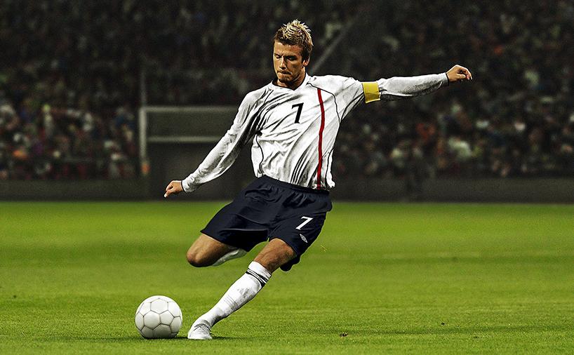 ضربه کاشته دیوید بکهام به عنوان کاپیتان تیم ملی انگلیس