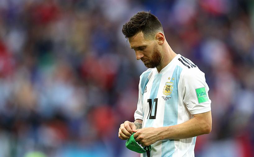مسی در بازی تیم ملی آرژانتین