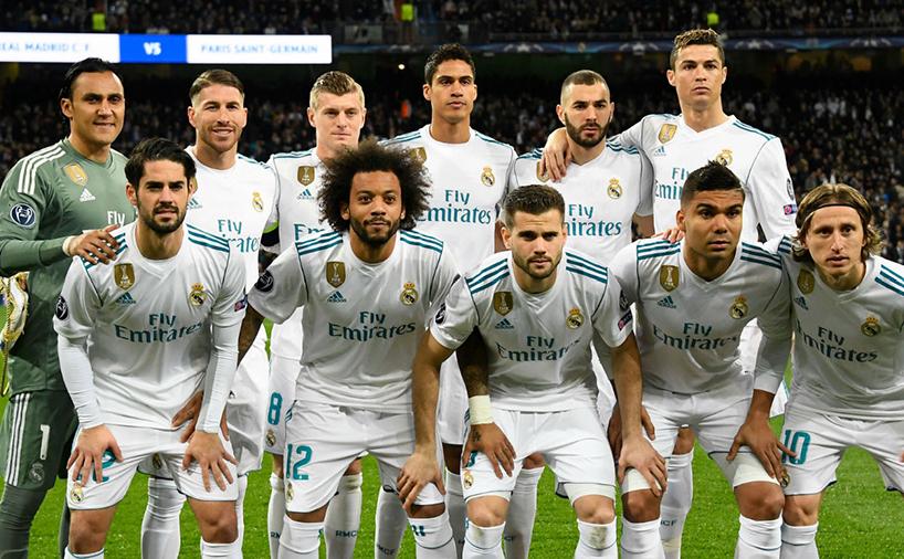 تیم فوتبال رئال مادرید به همراه کریستیانو رونالدو